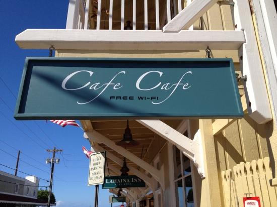 CafeCafeStreetSign